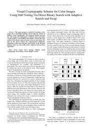Visual Cryptography Scheme for Color Images Using Half ... - ijcee