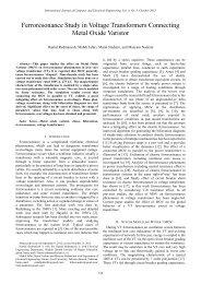 Ferroresonance Study in Voltage Transformers Connecting ... - ijcee