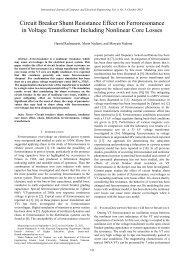 Circuit Breaker Shunt Resistance Effect on Ferroresonance in ... - ijcee