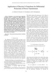 Application of Discrete S-Transform for Differential Protection ... - ijcee