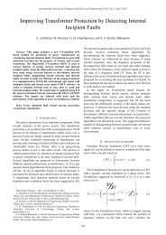 Improving Transformer Protection by Detecting Internal ... - ijcee