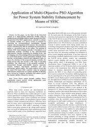 Application of Multi-Objective PSO Algorithm for Power System - ijcee