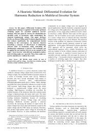 Differential Evolution for Harmonic Reduction in Multilevel ... - ijcee