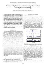 Cardiac Arrhythmia Classification using Beat-by-Beat ... - ijcee