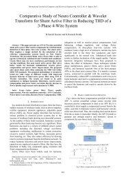 Comparative Study of Neuro Controller & Wavelet Transform ... - ijcee