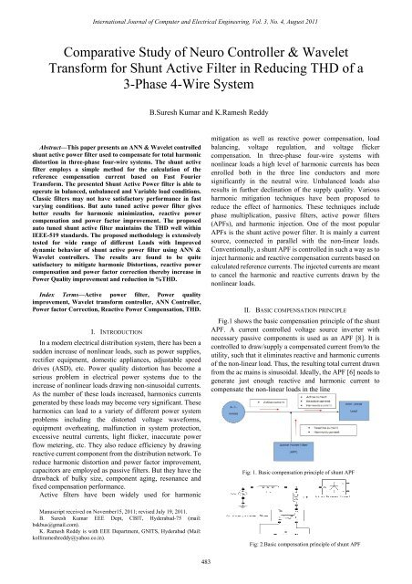 Comparative Study of Neuro Controller & Wavelet Transform ... - ijcee