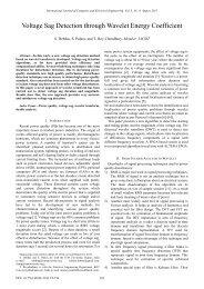 Voltage Sag Detection through Wavelet Energy Coefficient - ijcee