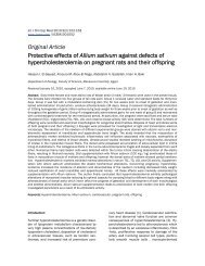 Protective effects of Allium sativum against defects of ...