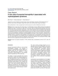 Case Report A rare case of acquired hemophilia A associated with ...