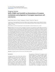 KAI1/CD82 and CyclinD1 as biomarkers of invasion, metastasis and ...