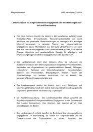 Landesnetzwerk für bürgerschaftliches Engagement und ... - BBE