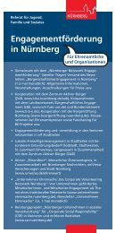 Übersicht über die Engagementförderung in ... - Stadt Nürnberg