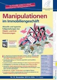 Manipulationen - Finanz Colloquium Heidelberg
