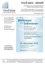 GeoUnion · aktuell