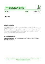 PRESSEDIENST - Dessau-Roßlau