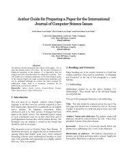 PDF paper template - IJCSI