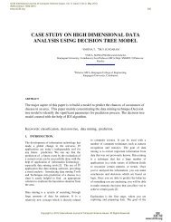 case study on high dimensional data analysis using decision ... - IJCSI