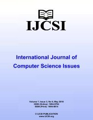 International Journal of Computer Science Issues - IJCSI