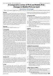 A Comparative review of IPv6 and Mobile IPv6 : Changes in ... - IJCST