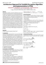 Architecture Approach for Scalable Encryption Algorithm ... - IJCST