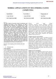 mobile applications in multimedia cloud computing - International ...