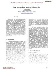 Relay Approach for tuning of PID controller - International Journal of ...