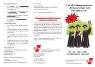 """Fortbildungsseminar """"Promovieren mit Perspektive"""" - GEW"""
