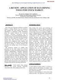 application of datamining tools for stock market - International ...