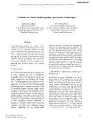 Scheduler in Cloud Computing using Open Source Technologies