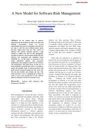 A New Model for Software Risk Management - International Journal ...