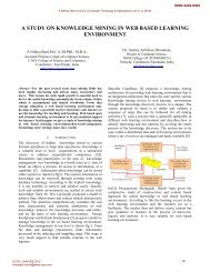 a study on knowledge mining in web based learning environment