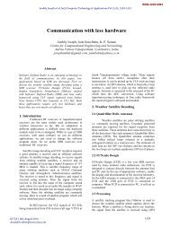 Communication with less hardware - International Journal of ...