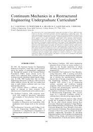 Continuum Mechanics in a Restructured Engineering ...