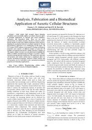 Analysis, Fabrication and a Biomedical Application of Auxetic ... - ijeit