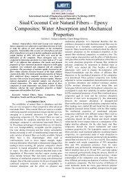 Sisal/Coconut Coir Natural Fibers – Epoxy Composites: Water ... - ijeit