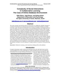 Complexity of Social Interactions in Collaborative Learning: The ...