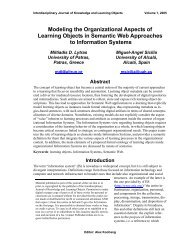 Modeling the Organizational Aspects of Learning Objects in ...