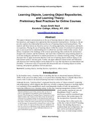 Learning Objects, Learning Object Repositories, and Learning Theory