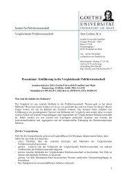 Einführung in die Vergleichende Politikwissenschaft - Goethe ...