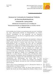 Statement des Vorsitzenden der Kommission Weltkirche - Deutsche ...