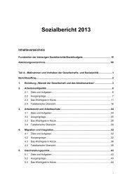 Sozialbericht 2013 - Bundesministerium für Arbeit und Soziales