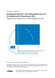 Angebotsstrukturen in der Alphabetisierung und Grundbildung für ...