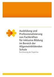 Ausbildung und Professionalisierung von Fachkräften für inklusive ...