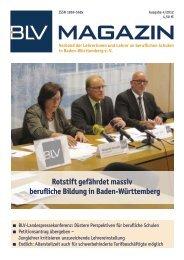 BLV Magazin 4-2012 - Berufsschullehrerverband Baden-Württemberg