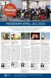 PROGRAMM APRIL-JULI 2013 - Erzbistum Köln