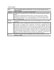 Abstract - International Journal of Engineering, Science and ...
