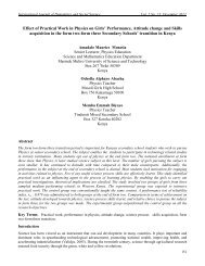 Effect of Practical Work in Physics on Girls - International Journal of ...