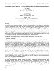 Cooking and Maslow's Hierarchy of Needs - International Journal of ...