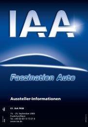 Informationen für Aussteller - IAA - Internationale Automobil ...