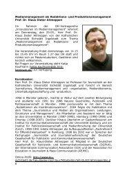 und Produktionsmanagement Prof. Dr. Klaus Dieter Altmeppen Im ...